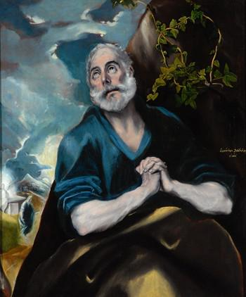 THE TEARS OF ST PETER BY EL GRECO