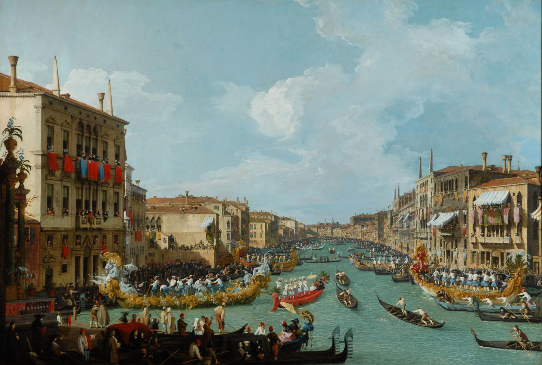 Italian Regatta on the Grand Canal
