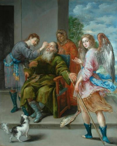 Tobias restoring His Father's Sight, Antonio Pereda y Salgado (c 1611 – 1678.)