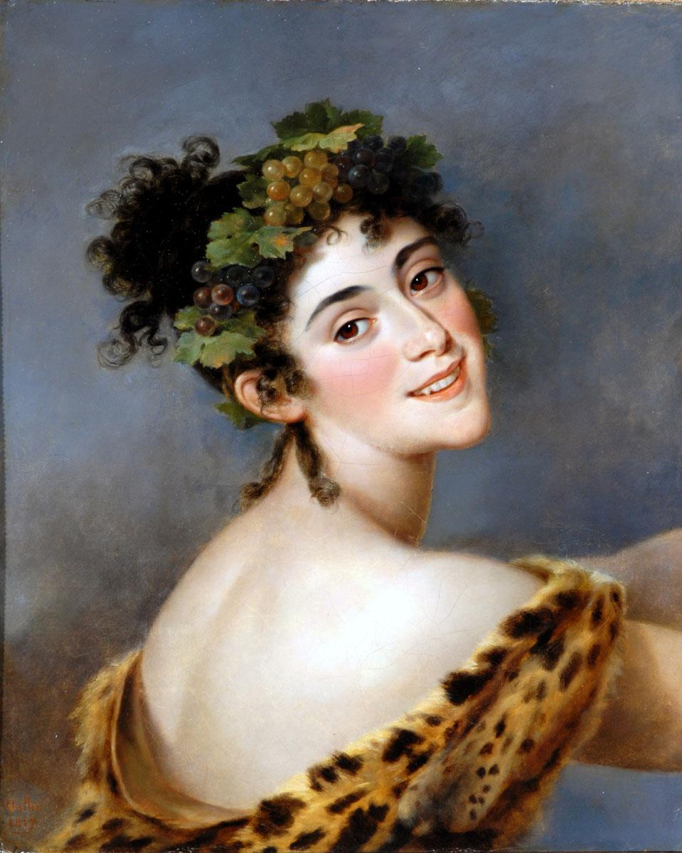Mme Bigottini as a Bacchante, Jacques Antoine c1760-1831 Vallin