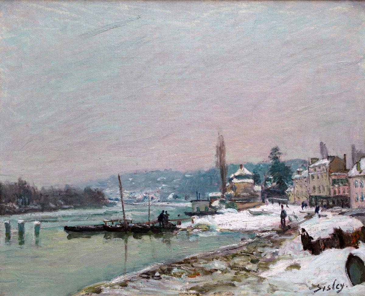 Sisley Port-Marly under Snow, Alfred Sisley